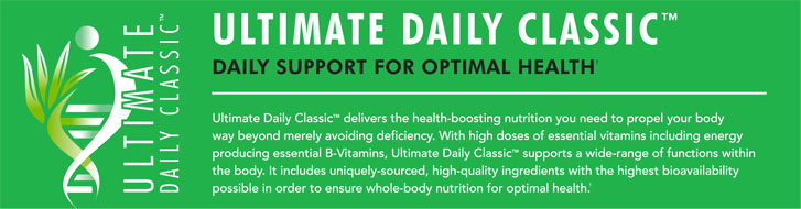 Ultimate Daily Classic delivers the health boosting nutritionyou need to propel your body way beyond merely avoiding defiency. With high doses of essential vitamins icluding energy producing essential b vitamins, Ultimate Daily Classic supports a wide range of functions within the body. It includes uniquely sourced, high quality ingredients with the highest bioavailability possible in order to ensure whole body nutriion support for optimal health. Doctor joel wallach from dead doctors dont lie audio tape owns Youngevityy .pig arthritis formula pig pack pak